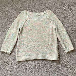 Anthropologie moth cream sweater sz med